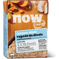 Now Fresh Grain-Free Turkey Stew Wet Cat Food, 6.4 oz, case of 24