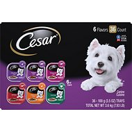 Cesar Classics Variety Pack Dog Food Trays, 3.5-oz, case of 36