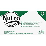 Nutro Beef, Chicken, Turkey & Lamb Stew Variety Pack Cuts in Gravy Adult Grain-Free Dog Food Trays, 3.5-oz, case of 36