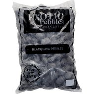 Exotic Pebbles Black Lava Pebbles, 20-lb bag