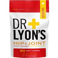 Dr. Lyon's Advanced Strength Hip & Joint Health Soft Chews Dog Supplement, 90-count