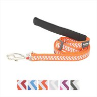 Red Dingo Adjustable Length Reflective Ziggy Dog Lead, 6-ft, 1/2-inch, Ziggy Orange