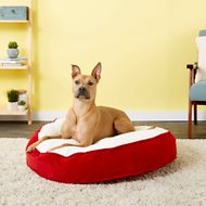 Happy Hounds Scout Deluxe Dog Bed, Crimson, Medium