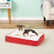 Happy Hounds Oscar Orthopedic Dog Bed, Crimson, X-Small