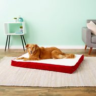 Happy Hounds Oscar Orthopedic Dog Bed, Crimson, Large