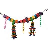 Super Bird Creations Rainbow Bridge Bird Toy, Medium/Large