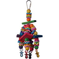 Super Bird Creations Wiggles and Wafers Bird Toy, Color Varies
