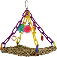 Super Bird Creations Flying Trapeze Bird Toy, Color Varies, Small