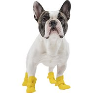 Canada Pooch Yellow Wellies Dog Boots, X-Small