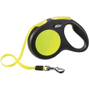 Flexi Neon Nylon Tape Reflective Retractable Dog Leash