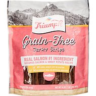 Triumph Grain-Free Salmon & Sweet Potato Recipe Jerky Dog Treats, 24-oz pouch