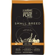 CANIDAE Grain-Free PURE Petite Lamb Formula Small Breed Limited Ingredient Diet Adult Dry Dog Food, 3-lb bag