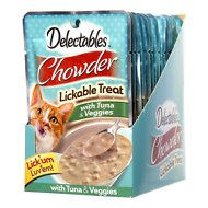 Hartz Delectables Chowder Tuna & Veggies Lickable Cat Treat, 1.4-oz, Case of 12