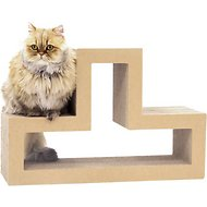 "Katris Mix & Match Blocks ""T"" Shape Cat Scratcher, Original Kraft, Single Block"