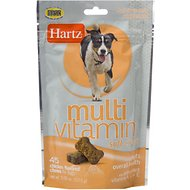 Hartz Multivitamin Chicken Flavored Dog Soft Chews, 45 count