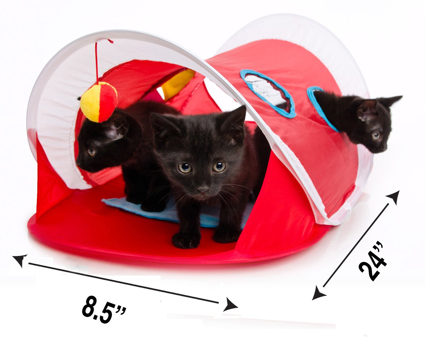 Hartz Just For Cats Peek Amp Play Pop Up Tent Cat Toy