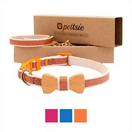 Pettsie Bow Tie Cat Collar with Friendship Bracelet, Orange