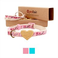 Pettsie Heart Cat Collar with Friendship Bracelet, Pink