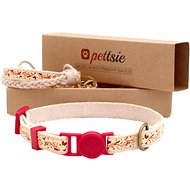 Pettsie Cat Collar with Friendship Bracelet, Red