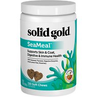 Solid Gold Supplements SeaMeal Skin & Coat, Digestive & Immune Health Soft Chews Grain-Free Dog Supplement, 120 count