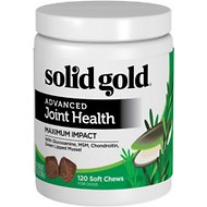 Solid Gold Supplements Advanced Joint Health Maximum Impact Soft Chews Grain-Free Dog Supplement, 120 count
