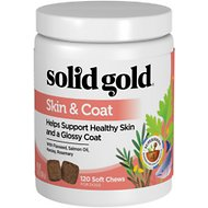 Solid Gold Supplements Skin & Coat Health Soft Chews Grain-Free Dog Supplement, 120 count