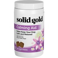 Solid Gold Supplements Calming Aid Soft Chews Grain-Free Dog Supplement, 60 count