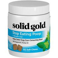 Solid Gold Supplements Stop Eating Poop + Breath Aid Soft Chews Grain-Free Dog Supplement, 60 count