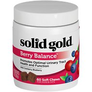 Solid Gold Supplements Berry Balance Urinary Tract Health Soft Chews Grain-Free Dog & Cat Supplement, 60 count