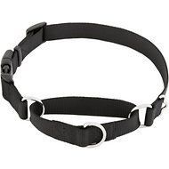 Frisco Solid Martingale Dog Collar with Buckle, Black, Large