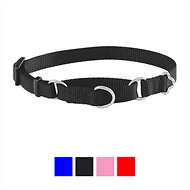 Frisco Solid Martingale Dog Collar, Black, X-Small