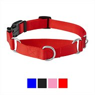 Frisco Solid Martingale Dog Collar with Buckle, Red, Medium