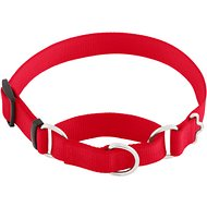 Frisco Solid Martingale Dog Collar, Red, Medium