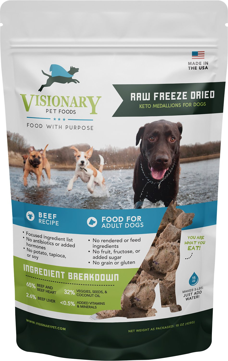 Valiant pet nutrition raw freeze dried beef recipe medallions adult roll over image to zoom in forumfinder Choice Image