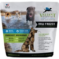 Valiant Pet Nutrition Raw Frozen Beef Recipe Medallions Adult Dog Food, 4-lb bag