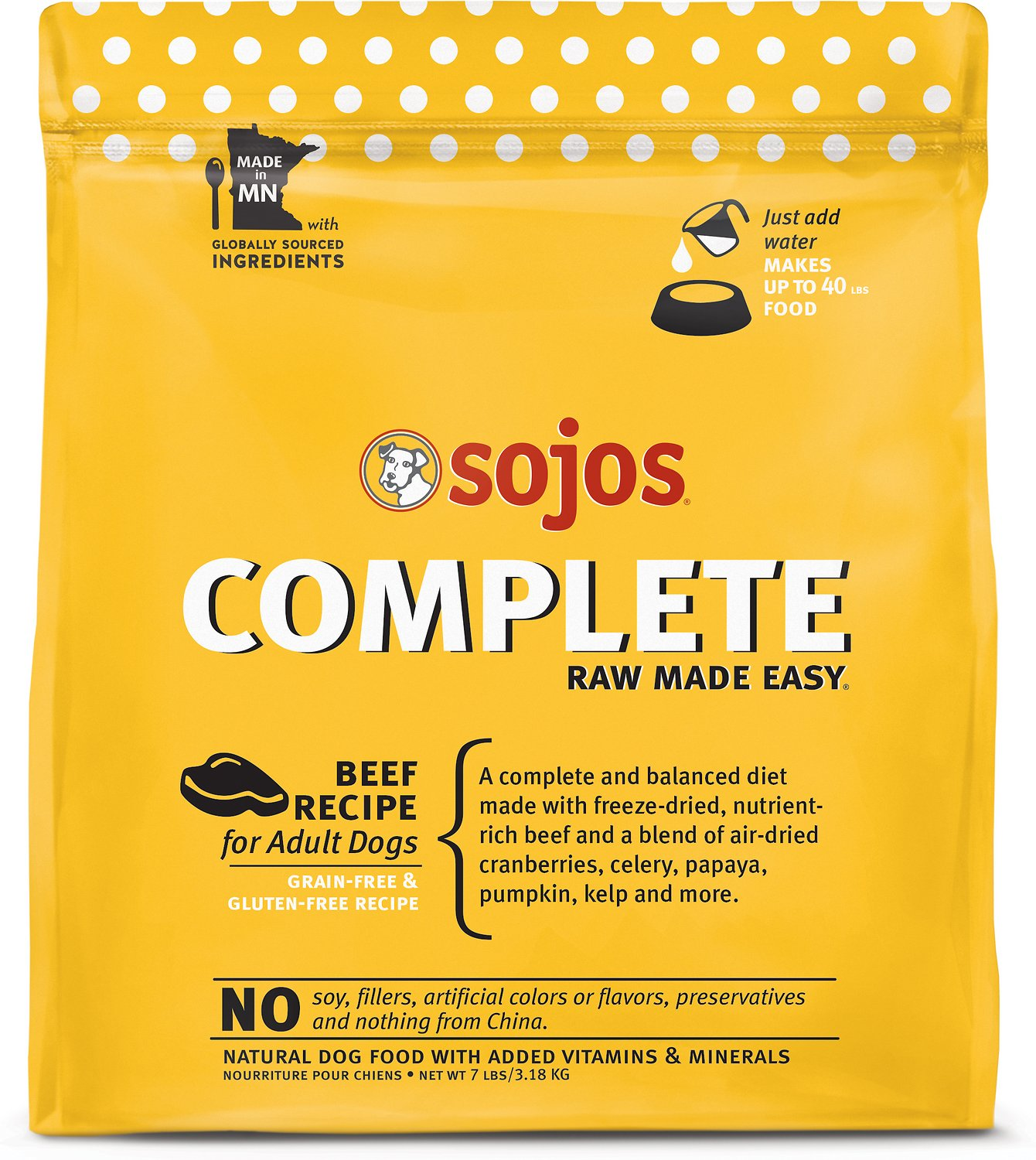 Sojos complete beef recipe adult grain free freeze dried raw dog video solutioingenieria Images