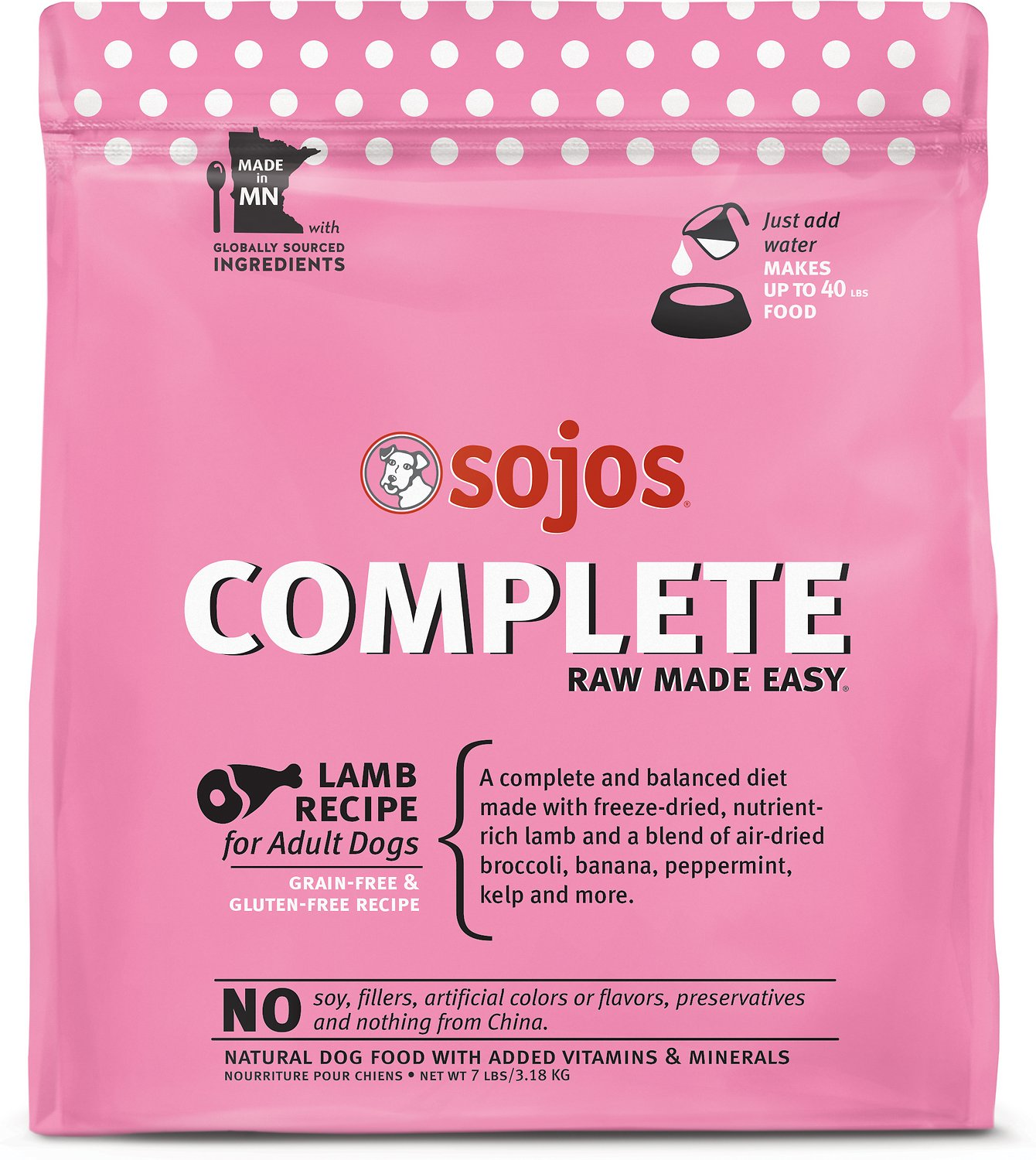 Sojos complete lamb recipe adult grain free freeze dried raw dog video forumfinder Images