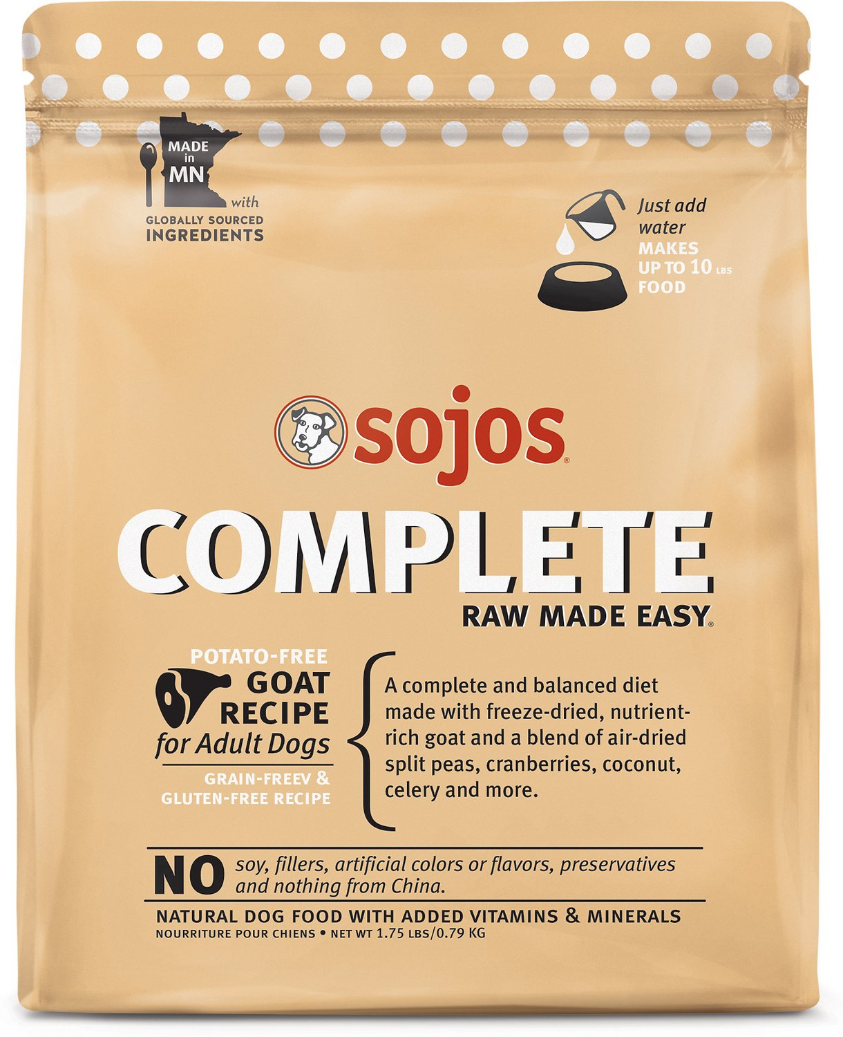 Sojos complete goat recipe adult grain free freeze dried raw dog video solutioingenieria Images
