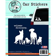 "Dog is Good ""Welcome Diversity"" Car Sticker"