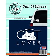 "Dog is Good ""Cat Lover"" Car Sticker"
