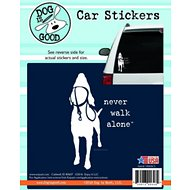 "Dog is Good ""Never Walk Alone"" Car Sticker"