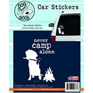 "Dog is Good ""Never Camp Alone"" Car Sticker"