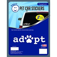 Enjoy It Adopt Pawprint Car Sticker, 2 count