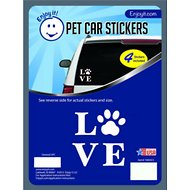 Enjoy It Love & Paw Car Sticker, 4 count