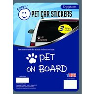 "Enjoy It ""Pet on Board"" Car Sticker, 3 count"