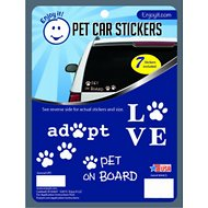 Enjoy It Assorted Pet Car Stickers, 7 count