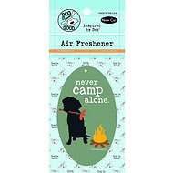 "Dog is Good ""Never Camp Alone"" Air Freshener, New Car"