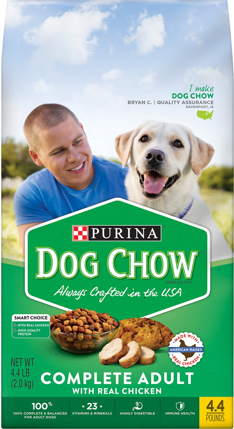 Dog Chow Complete With Real En Dry Food 4 Lb Bag