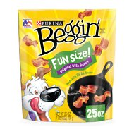 Beggin' Littles Bacon Flavor Small Dog Treats, 25-oz bag