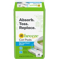 Tidy Cats Breeze Spring Clean Scented Cat Pads, 10 count